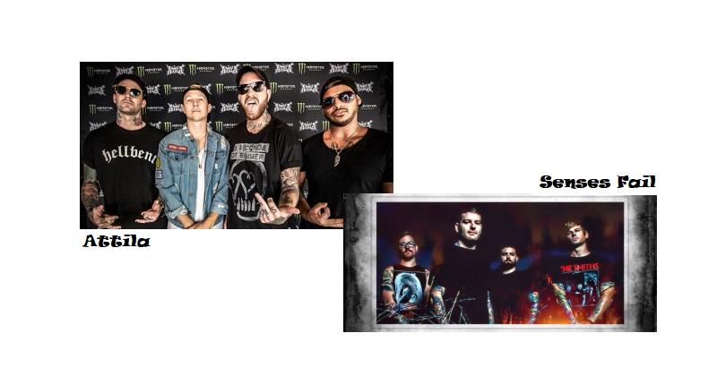 Peleas Bandas de Rock - Attila vs Senses Fail