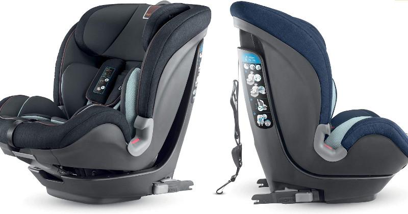 Vistas frente y lateral de Inglesina Caboto - Silla de auto para niños de 1 a 12 años